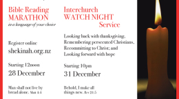 Shekinah-Watch-Night-Service