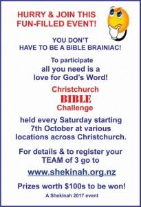 Christchurch Bible Challenge